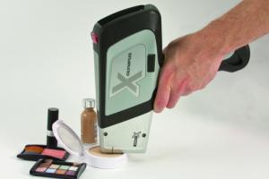 DELTA XRF Handheld Analyzer testing cosmetics
