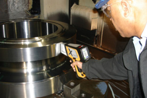 Delta Handheld Analyzer testing metal