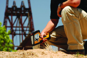 DELTA Handheld Analyzer testing soil