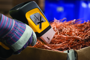 DELTA Handheld Analyzer testing scrap metals