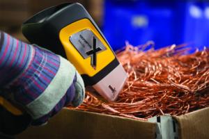 DELTA Handheld Analyzer testing scrap metals