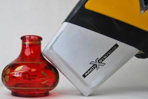 DELTA XRF Handheld Analyzer testing a vase