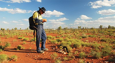 DELTA Handheld XRF Analyzer, out in the field