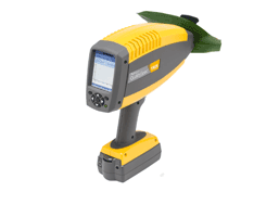 QualitySpec Trek Handheld Analyzer sampling leaf with sample clip